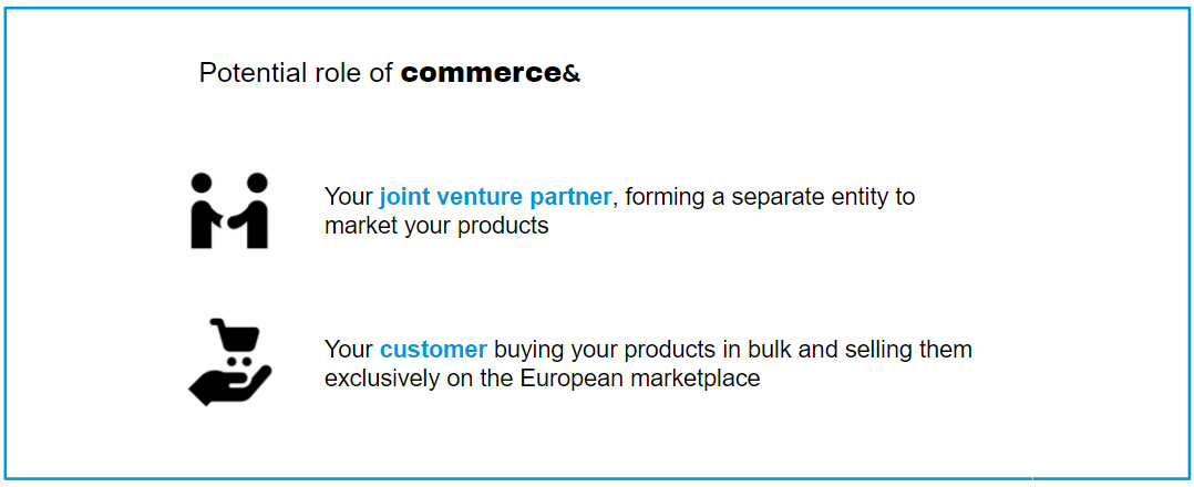 Potential role of commerce&